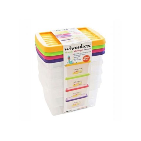 Whambox Handy 1.5L Storage Boxes Set of 4